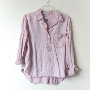 OLD NAVY + Boyfriend Tencel Chambray Top